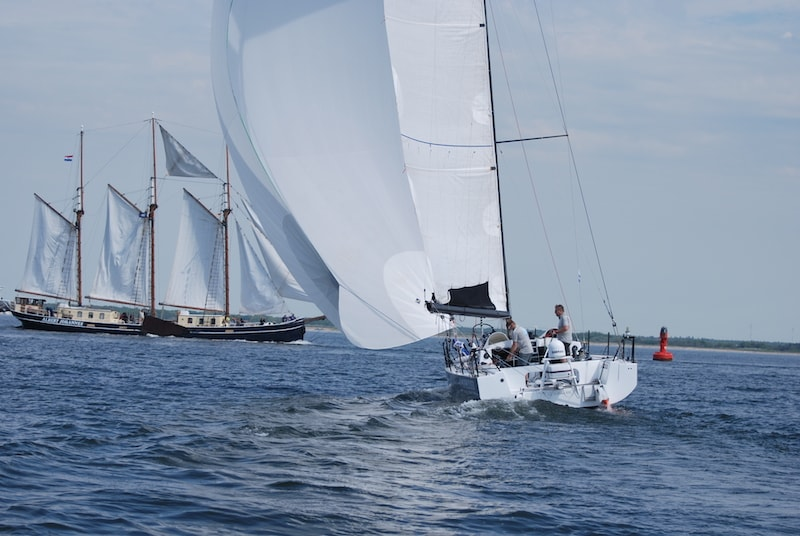 Sailing in Rostock Warnemünde with the Class 40